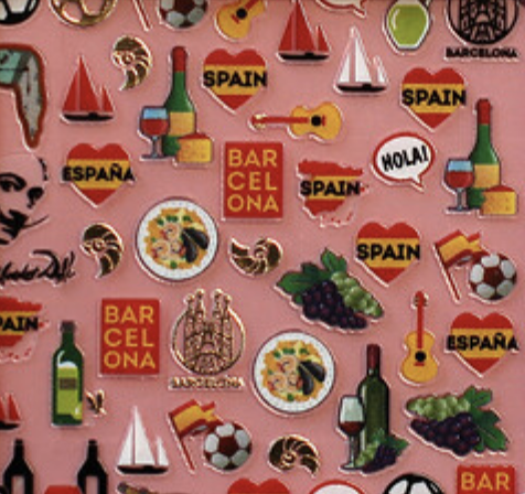 Charmicon Silicone Stickers Spain 2
