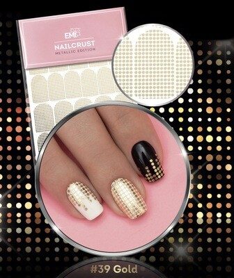 NAILCRUST #39  Pattern Sliders Disco GOLD