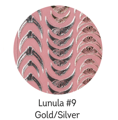 Charmicon Silicone Stickers Lunula #9 Gold/Silver