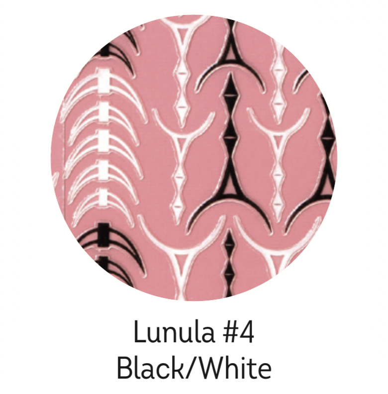 Charmicon Silicone Stickers Lunula #34 Black/White