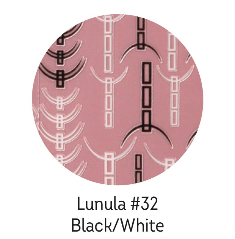 Charmicon Silicone Stickers Lunula #32 Black/White