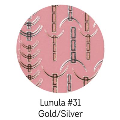 Charmicon Silicone Stickers Lunula #31 Gold/Silver