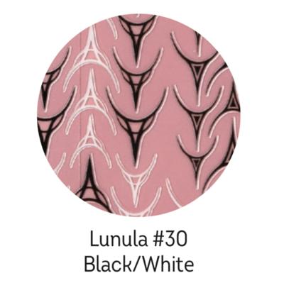 Charmicon Silicone Stickers Lunula #30 Black/White