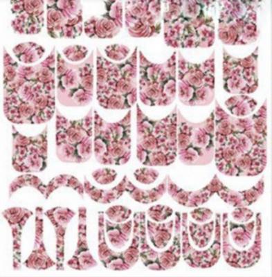 Naildress Slider Design Pink Roses