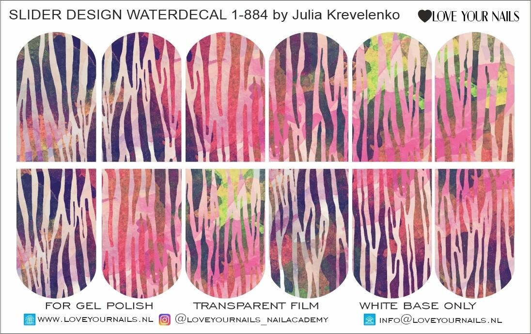 Watercolor zebra 1-884