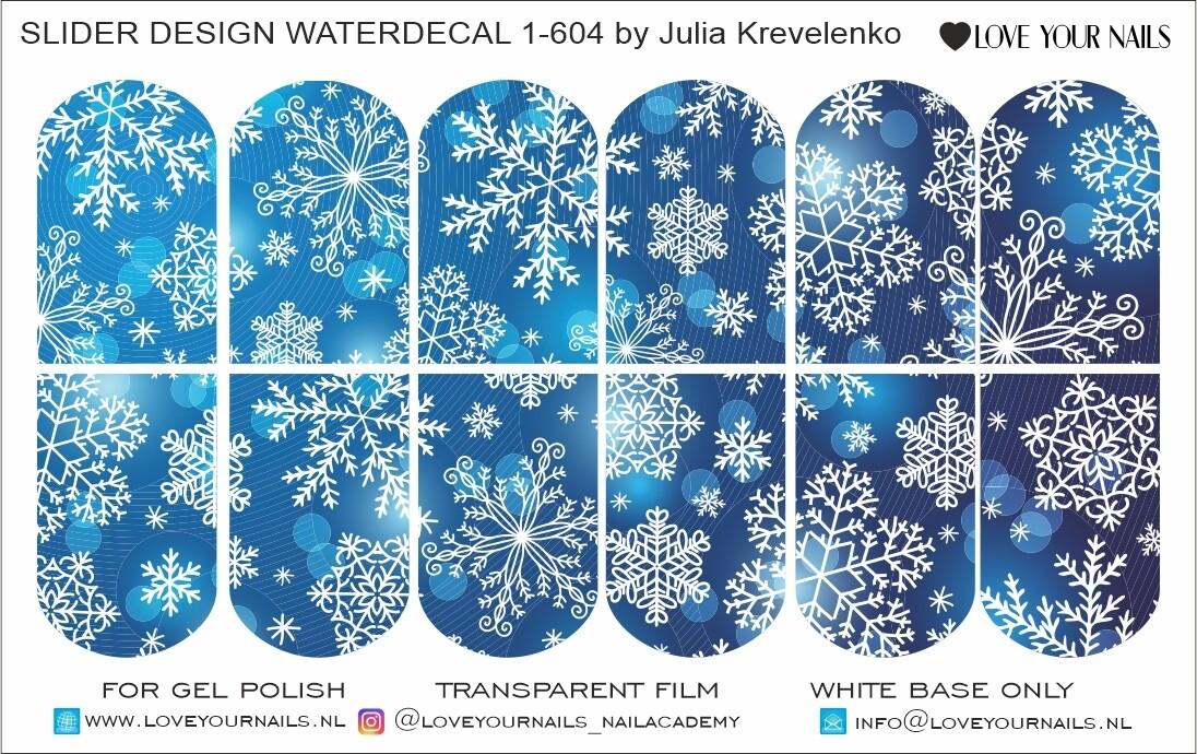 Blue snowflakes 1-604w