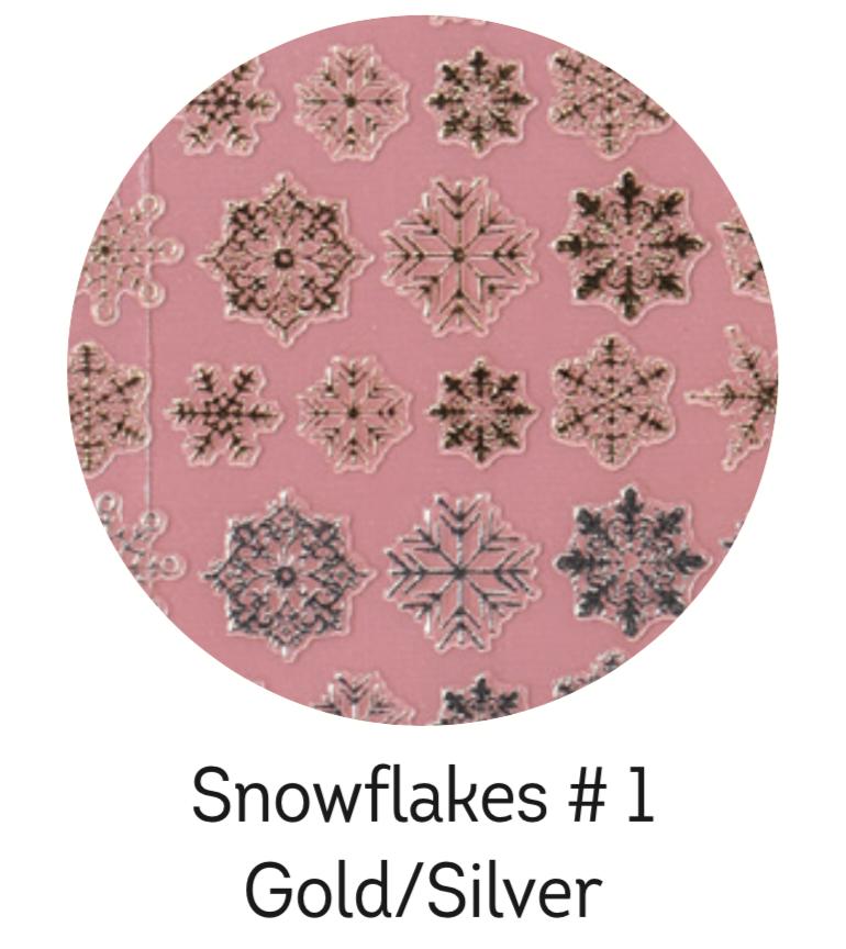 Charmicon Silicone Snowflakes #1 Gold/Silver