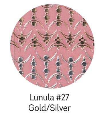 Charmicon Silicone Stickers Lunula #27 Gold/Silver