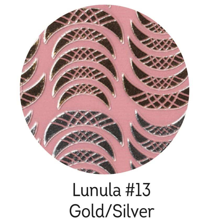 Charmicon Silicone Stickers Lunula #13 Gold/Silver