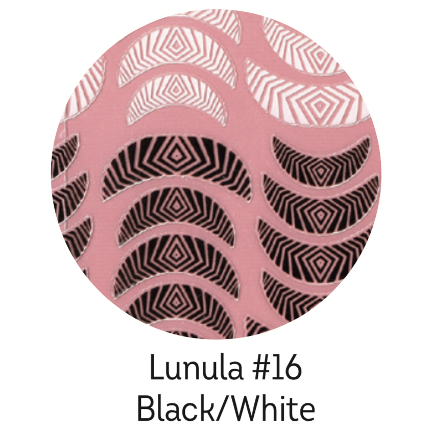 Charmicon Silicone Stickers Lunula #16 Black/White