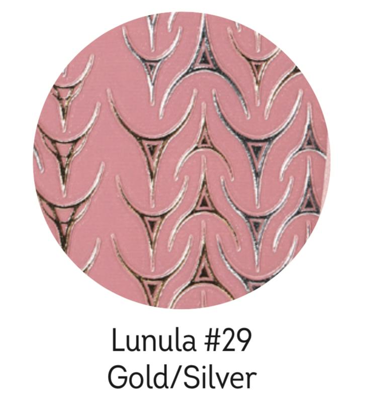 Charmicon Silicone Stickers Lunula #29 Gold/Silver