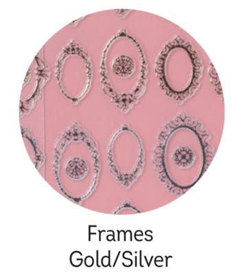 Charmicon Silicone Stickers Frames Gold/Silver