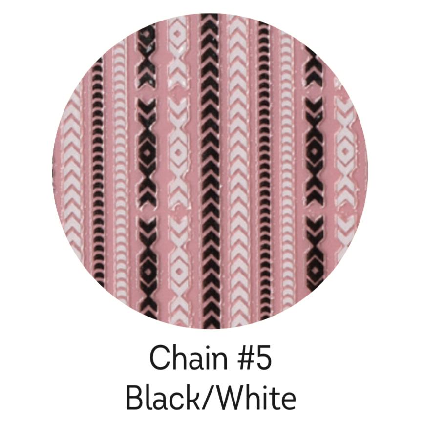 Charmicon Silicone Stickers Chain #5 Black/White