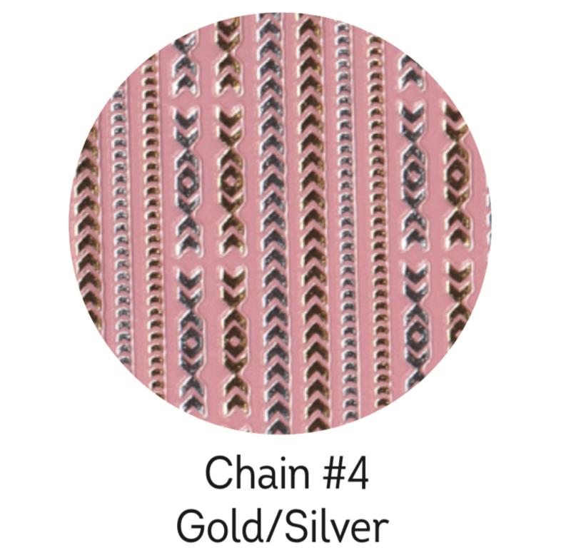 Charmicon Silicone Stickers Chain #4 Gold/Silver