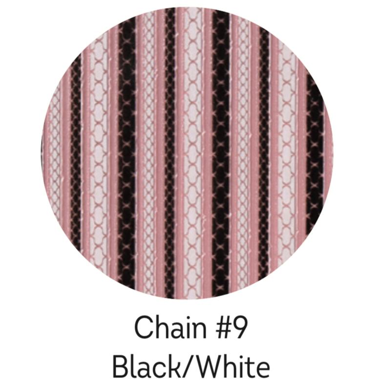 Charmicon Silicone Stickers Chain #9 Black/White