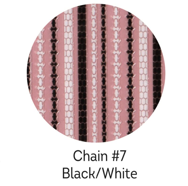 Charmicon Silicone Stickers Chain #7 Black/White