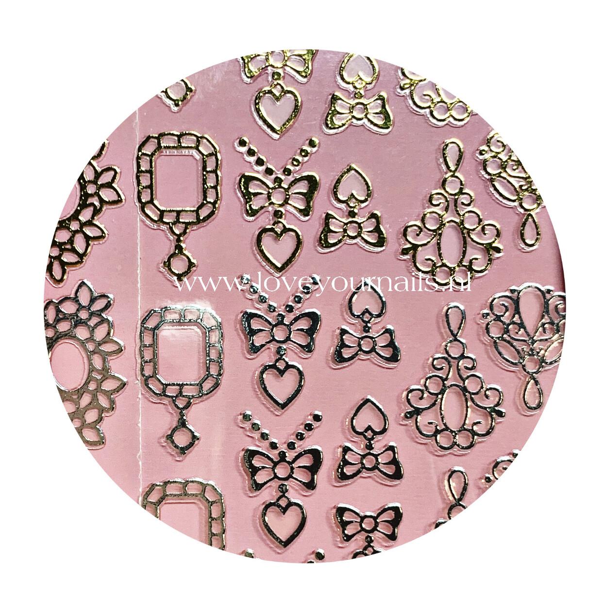 Charmicon Silicone Stickers Jewelry Gold/Silver #4