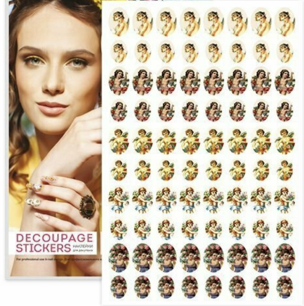 Decoupage Stickers 3D Vintage Angels