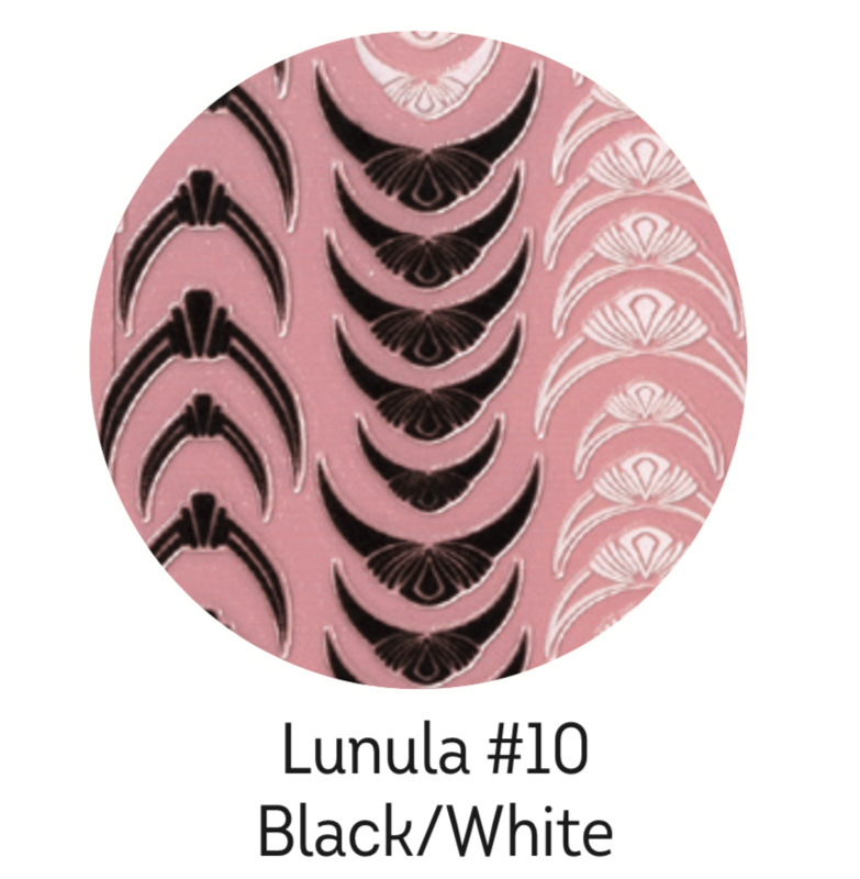 Charmicon Silicone Stickers Lunula #10 Black/White