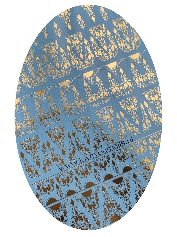 NAILCRUST Pattern Sliders Gold #17