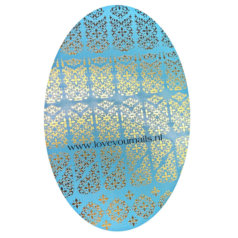 NAILCRUST Pattern Sliders Gold #16