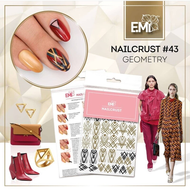 NAILCRUST Pattern Sliders #43 Geometry