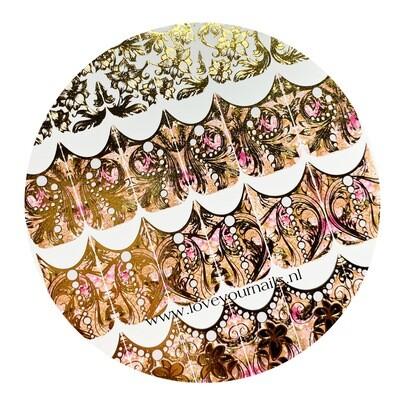 Naildress Slider Design for Gemty Gel Gold Cloth