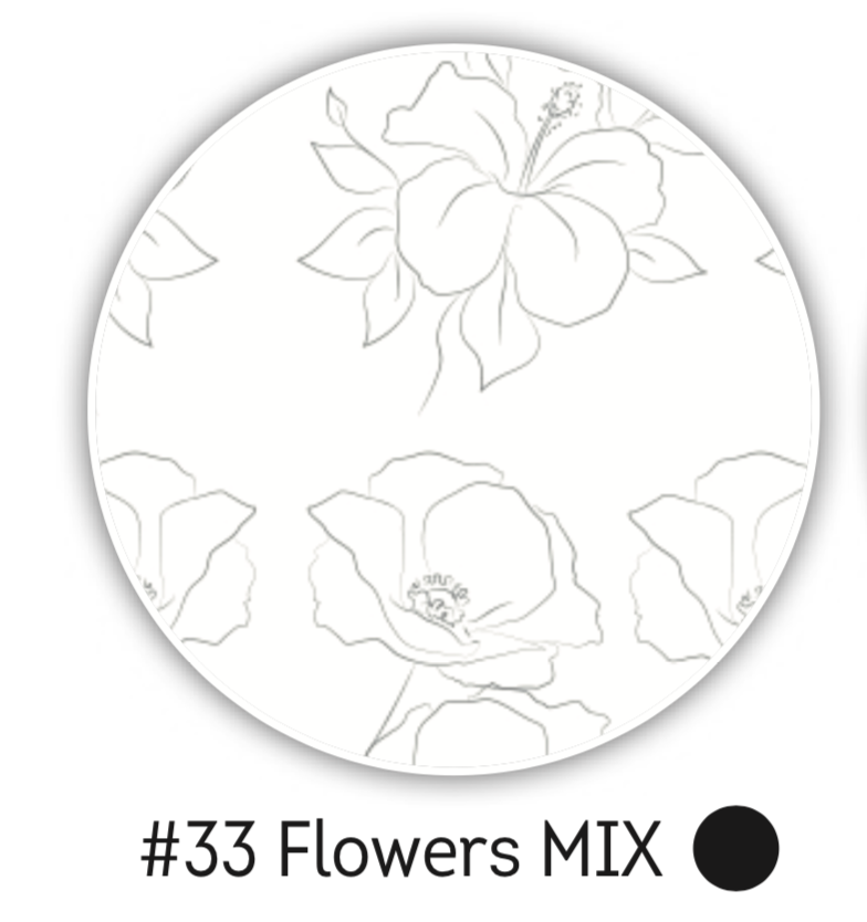 NAILCRUST Pattern Sliders Flowers MIX #33