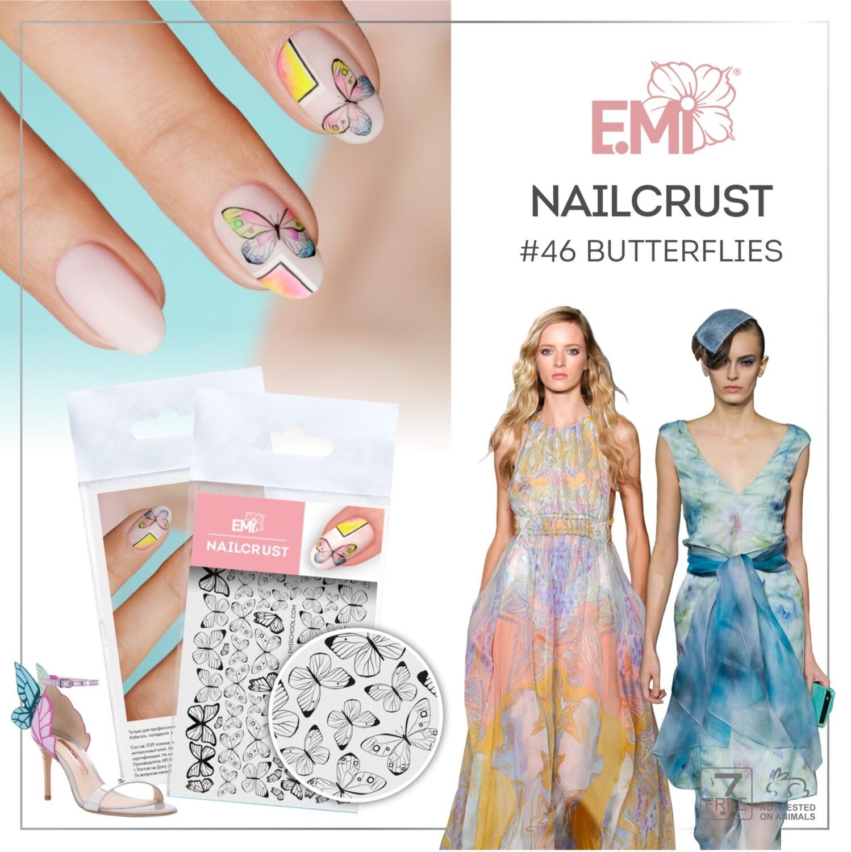 NAILCRUST Pattern Sliders #46 Butterflies