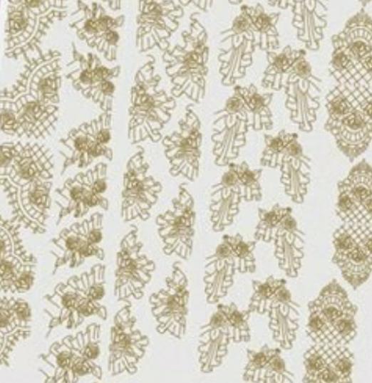 NAILCRUST Pattern Sliders Gold #9