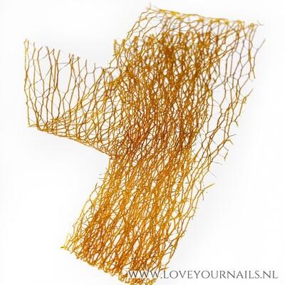 Orange and gold Nail Art netting