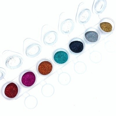 Holographic glitter set 5+2 Free + Jars set