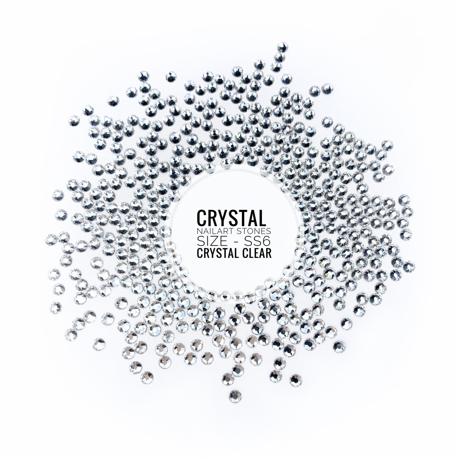 Crystal Stones Clear, 100 pcs
