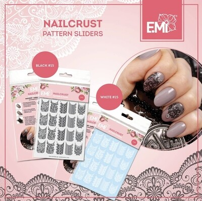 NAILCRUST Pattern Slider White #15