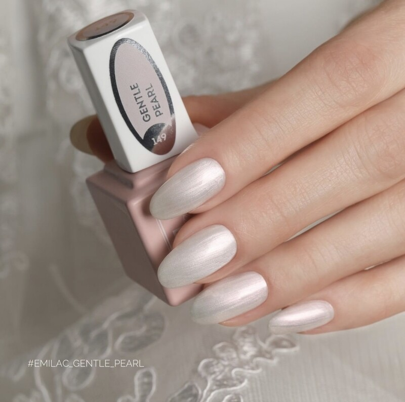 E.MiLac #149 Gentle Pearl — pearly white shade with a fine purple-pink shine
