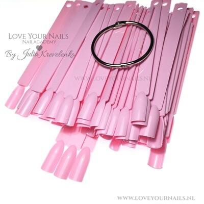 Oefen tips op een stokje (color pops) pink - 50st.