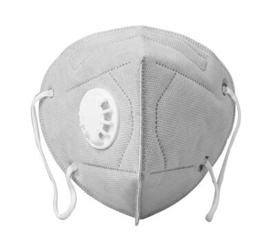5-laags beschermende mondmasker met ademventiel -5 st