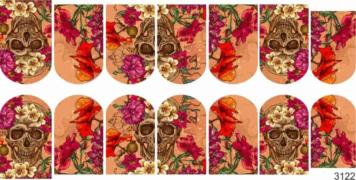 Scul met bloemen 3122