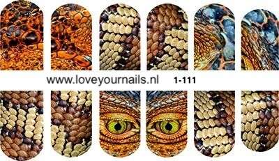 Reptilien  slangenprint 1-111