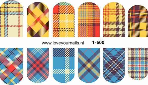 Schotse ruit motief , blauw en geel 1-600w