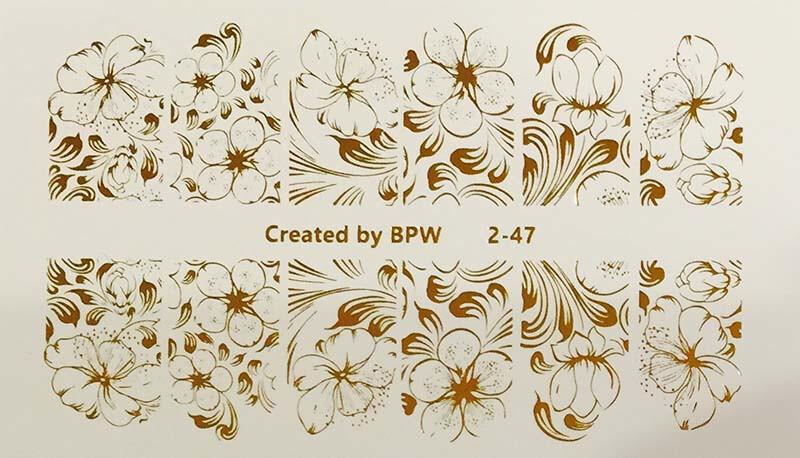 Bloemen 2-47 goud