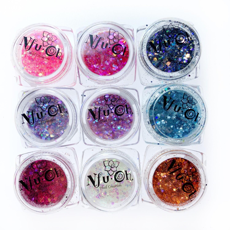 Glitter set Nfu-oh, 9 pcs