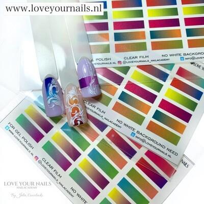 Ombre Gradient Colorboom Lines 9064