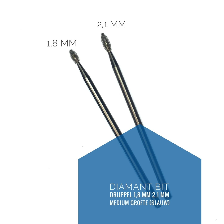 Diamant freesbit veilig druppel - medium