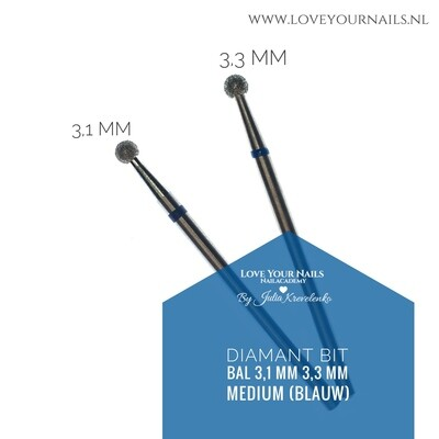 Medium Diamond Drill Bit - Ball -Hard Skin Clean Up