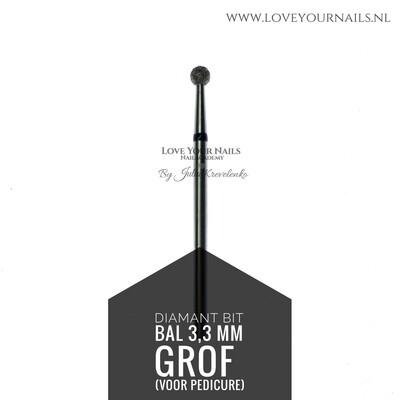 Diamant frees bit Bal - extra grof- 3,3mm