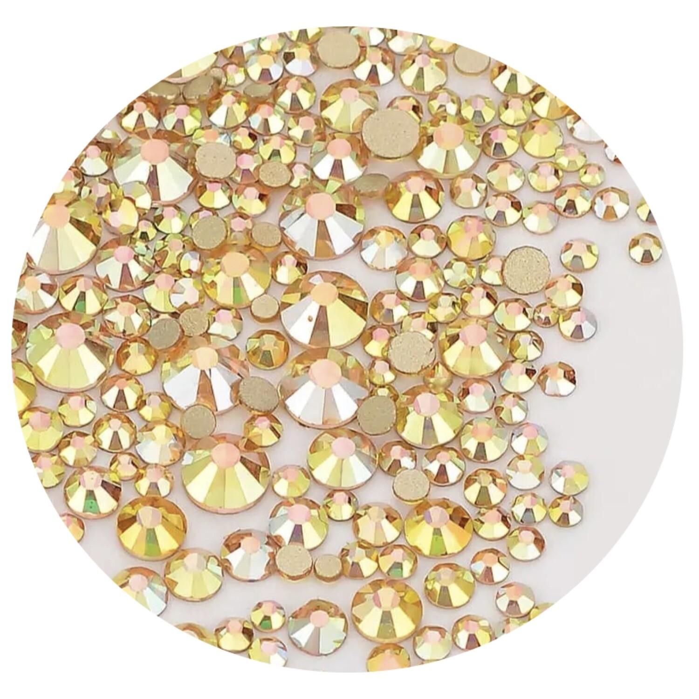 Crystal Stones Sunlight, 250st., ss3-ss20 in een zakje