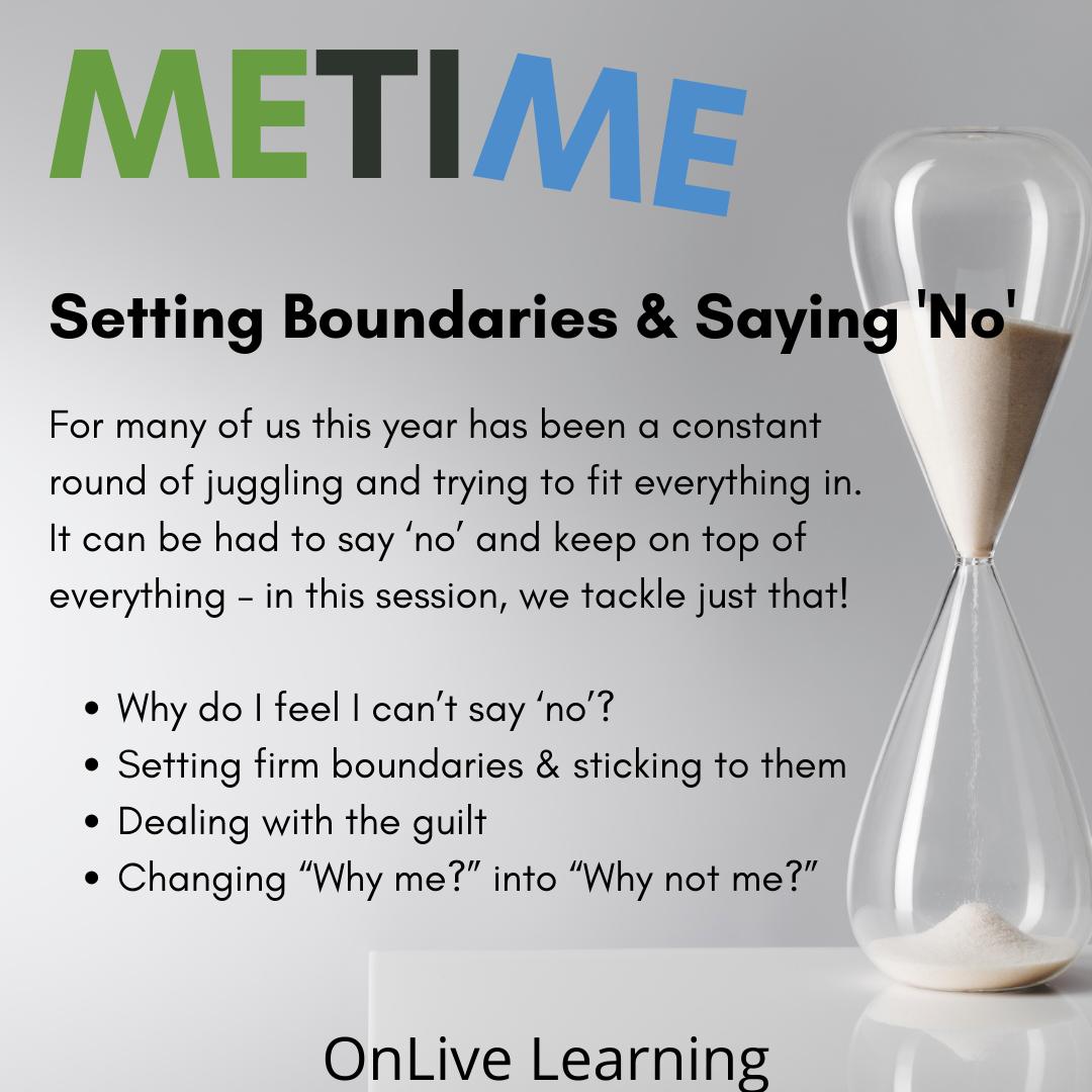 "Setting Boundaries & Saying ""No"""