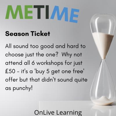 Me Time - Season Ticket