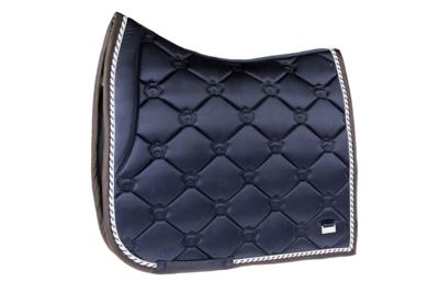Dressage Saddle Pad, Deep Sapphire, Monogram